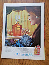 1962 Old Taylor 86 Whiskey Ad  It's a Jewel Decanter to be treasured
