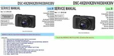 SONY CYBER-SHOT DSC-HX20 HX20V HX30 HX30V SERVICE MANUAL & REPAIR GUIDE