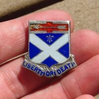 WW2 US Army 276th Engineer Regiment DUI DI Pin Crest Insignia Sterling PB