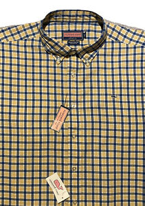 NWT! Vineyard Vines l/s Button-Up Whale Shirt  Men XL  Yellow, Blue, White Plaid