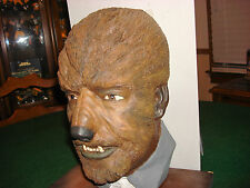 Werewolf bust life size  not don Post  universal monsters  Custom Made (Rare )