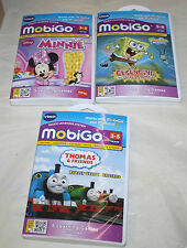3 MOBIGO VTECH GAMES MINNIE THOMAS & FRIENDS SPONGE BOB FREE SHIPPING