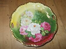 VTG T. DUVAL Signed Limoges Hand Painted Floral Plate GERMANY