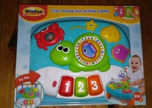 WinFun Baby 2 In 1 Ocean Fun Activity Center For Babies Toddlers