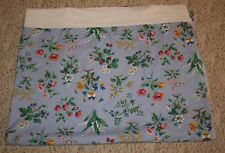 Strawberries Floral Twin Flat Sheet Full Bloom Blue 100% Cotton Liz Claiborne