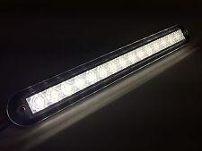 "MARINE BOAT WHITE LED STRIP LIGHT 176LM FLUSH MOUNT 12V 3W IP67 4500K 7.9""X0.9"""