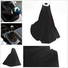 Manual Transmission Shifter Black Nubuck Genuine Leather Shift Knob Boot Covers