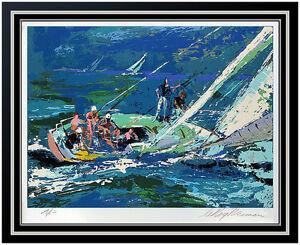 LeRoy Neiman Original Color Serigraph Signed Sports Sailing Artwork Painting SBO