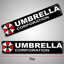 2 AUFKLEBER GEL STICKERS LAPTOP AUTO MOTO UMBRELLA CORPORATION RESIDENT F 27
