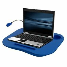 Laptop Lap Desk, Portable Tray With Foam Cushion, Adjustable LED Desk Light, And