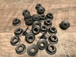 25 pcs 3/8-16  captured loose washer hex nuts  - black