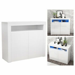 Corner TV station TV bracket cabinet multi color LED light brand new white UK