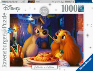 Disney Artist Collection-Lady And The Tramp 1000 PC Puzzle - Expedited Shipping!