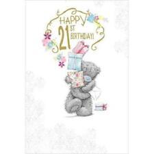ME TO YOU HAPPY 21ST BIRTHDAY CARD TATTY TEDDY BEAR NEW GIFT