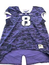 Game Worn Used Nike TCU Horned Frogs Football Jersey Size 50 #8