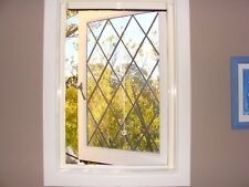 Retractable FlyScreen - WINDOW UNIT 2100mmH x 1500mmW - TIMBER LOOK  - EASY DIY.