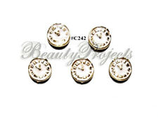 5pc Nail Art Charms 3D Nail Rhinestones Decoration Jewelry DIY Bling - C242