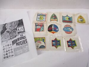 Vintage RARE Kellogg's Corn Flakes USA Man In Space 'Patches' Sealed 1961