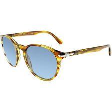 Persol Men's Mirrored PO3152S-904356-52 Brown Round Sunglasses