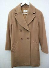 Women's PRECIS PETITE Wool Camel Double Breasted Coat - UK12 Petite