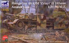 Bronco 1/35 Hungarian 40/43M 'Zrinyi' II 105mm Assault Gun Model Kit CB35036