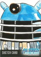 Dr Doctor Who Big Screen Additions Sketch Card by Don Pedicini of a Dalek