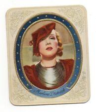 Marlene Dietrich 1934 Garbaty Film Star Series 1 Embossed Cigarette Card #16