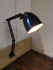 Vintage Industrial Machinist Lamp - Black 3-section