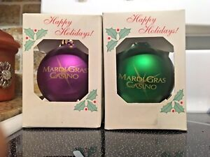 New Collectible Christmas Ornaments Mardi Gras Casino Red & Green