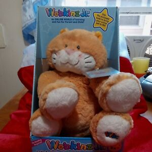 "Ganz Webkinz Jr. Orange Kitty Kitten Cat stuffed animal plush White 11"" WJ108 Jr"