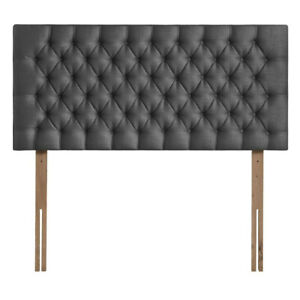 "Plush Velvet Buttoned Headboard 26"" Upholstered Wall or Bed Mount Bed Head Cheap"
