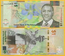 Bahamas1 Dollar p-77 2017 REPLACEMENT (prefix Z) UNC Banknote