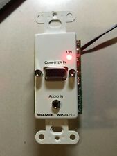 Kramer WP-301xl Active Wall Plate - VGA and Stereo Audio Transmitter with EDID