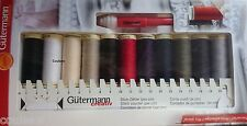 GUTERMANN SEW ALL THREAD 100M x 11 SEWING KIT BOX SET BASIC COLOURS + SEAM FIX