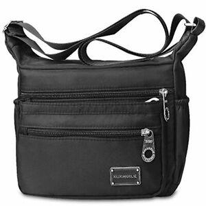 Women Shoulder Multi Pocket Bag Casual Cross Body Travel Messenger Handbag