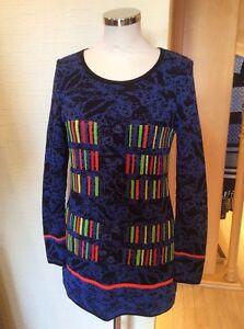 Olivier Philips Sweater Size 20 BNWT Blue Black Orange Green RRP £134 Now £54