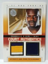 2004 Fleer E-XL Shaquille O'Neal Jersey Patch #6 of 44 Rare!
