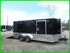 7 x 16 2ftv 18ft inside enclosed cargo motorcycle toy hauler bike trailer New