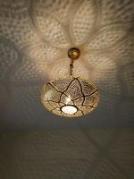 Pendant Lights Brass Moroccan Suspension Hanging Vtg Ceiling Chandelier Fixture