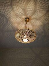 Pendant Lights Brass Moroccan Suspension Hanging Vtg Ceiling Chandelier Fixture