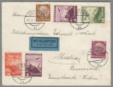 1938, Beleg Wien-Medias/Rumänien, Misch. Ö/D (AF)