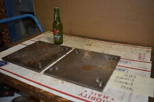 Lot of 2 steel Plate for blacksmith anvil,38 lbs INV=26317