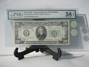 "$20 1934B (FRN)  Fr.#2056-K (Dallas) Fred Vinson ""PMG 58 EPQ""  ** Price Drop **"
