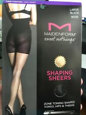 Maidenform Large Black Sweet Nothings Shaping Sheers 2 Pack New In Box