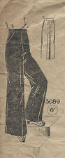 "1940s WW2 Vintage Sewing Pattern W30"" H40"" WOMENS PANTS TROUSERS (1260)"