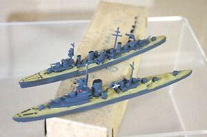 TREMO TM HMS EMERALD EFFINGHAM 1:1200 WWII HEAVY & LIGHT CRUISER MODEL SHIP m
