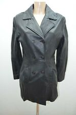 VESTE JACKET CUIR SERGE PARIENTE 38 40 M NOIR LEATHER