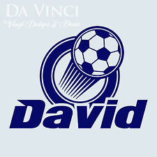 Personalized Boy Name Soccer Ball Vinyl Sticker Wall Decal Decoration