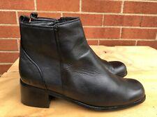 Trivica Women Leather Ankle Boot -Faux Fur Lining Low Heel Dressy Zipper sz 7