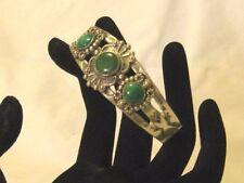Maisels Vintage Indian Turquoise Sterling Silver Stampwork Bracelet Cuff